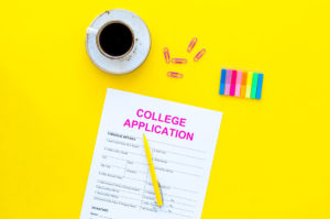Covid-19 prompt on college application